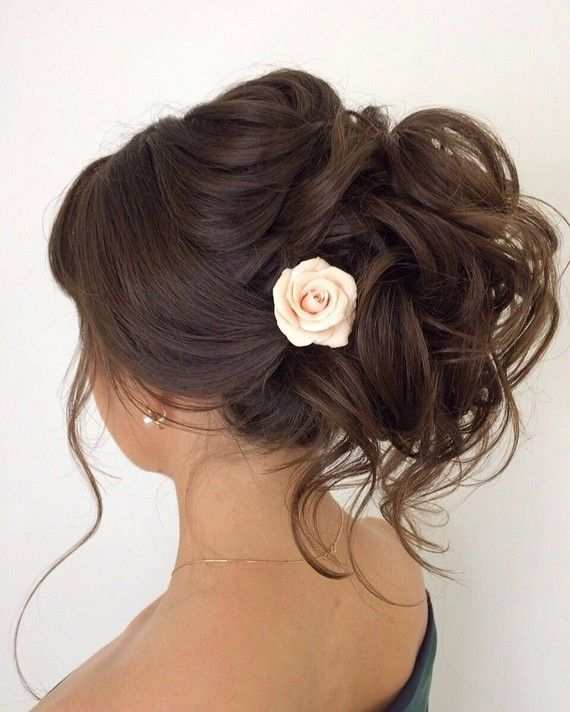 La rose dans les cheveux  Elstile wedding hairstyles for long hair 45 - Deer Pearl Flowers / www.deerpearlflow...