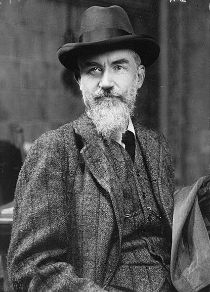 George Bernard Shaw (1859-1950). Writer, playwright, social critic and social activist. One of the most influential figures of the 19th century.