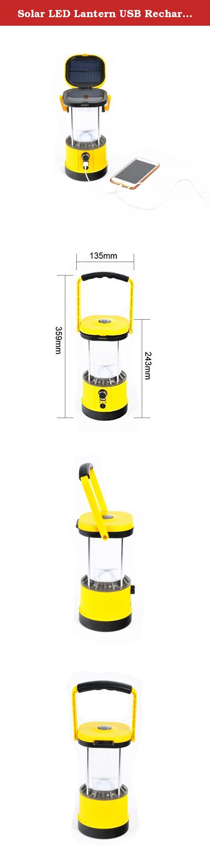 Solar LED Lantern USB Rechargeable Camping Lantern Portable With Compass 4W LED/ 2.2W Solar. Product Information: Model: SL-601 Solar panel: 2.2W Lamp: 4w LED Battery: 7.4V/2.0Ah Lithium-ion Luminous Flux: 320LM 110V/240V Cahrge: Yes USD 5V Output: Yes Working Time: 6-8 hours(on highest setting) Working Lifetime(Hour): 100000 Charging Time: Solar panel 6-8 hours under bright sunlight; AC adapter with 2-3 hours Charging Method: sunlight/AC Adaptor Accessories: Compass & AC charger Usage...
