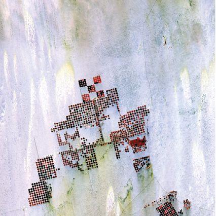 Irrigadores de água no Deserto do Saara (Foto: USGS / NASA)