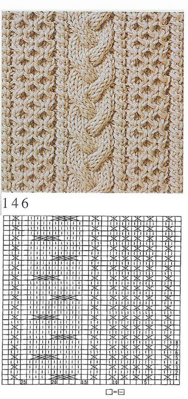 nice beautiful knitting stitch pattern lace aran ES MEG SOK MAS красивые узоры на спицах click to large