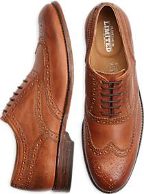 Florsheim Tierney Tan Wingtip Shoes