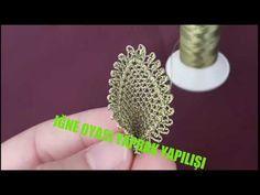 iğne oyası yaprak yapımı iğne oyası modelleri yapılışı needlelace leaf…