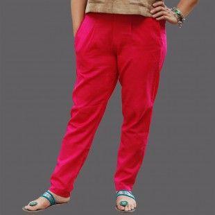 Pink Khadi Straight Pants