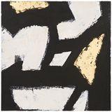 Stroke III Canvas 76x76cm Gold Colour