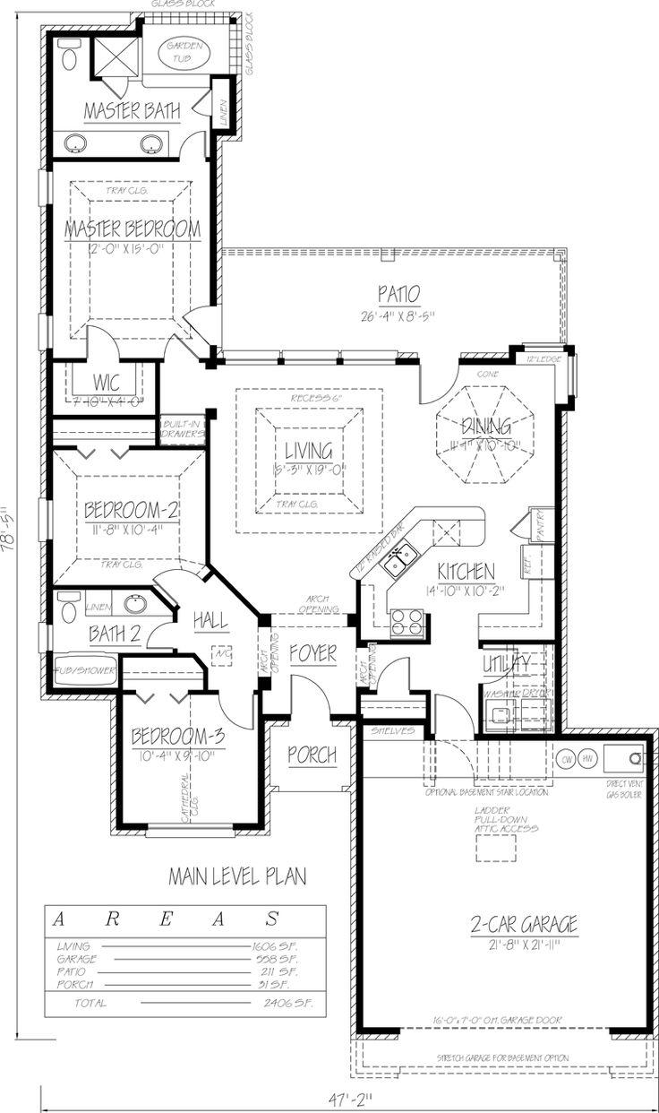 Ranch southwest house plan 71931
