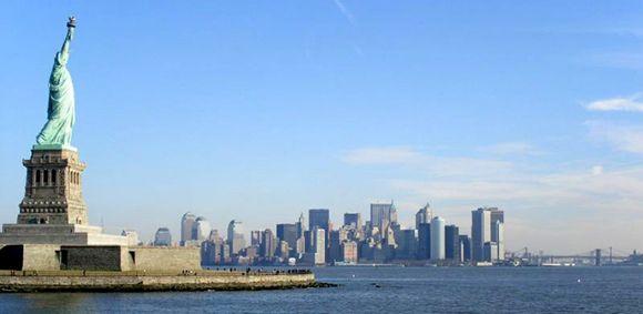 Vista de #NovaYork  e a #EstátuadaLiberdade