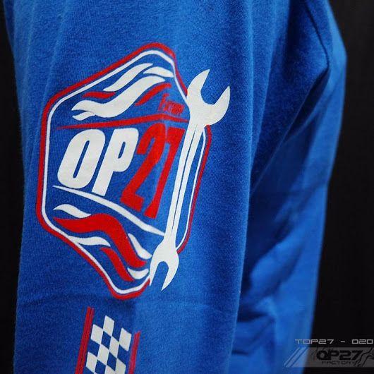 T-shirt TOP27-020 Blue Longsleeve  087845622777 (WA, SMS, & Telp) / D17560D1 (BBM) / op27factory (LINE)