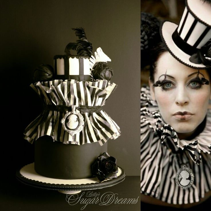 Cake inspired by Cirque du Soleil costume. Decorated with Massa Ticino Sugarpaste and Waferpaper