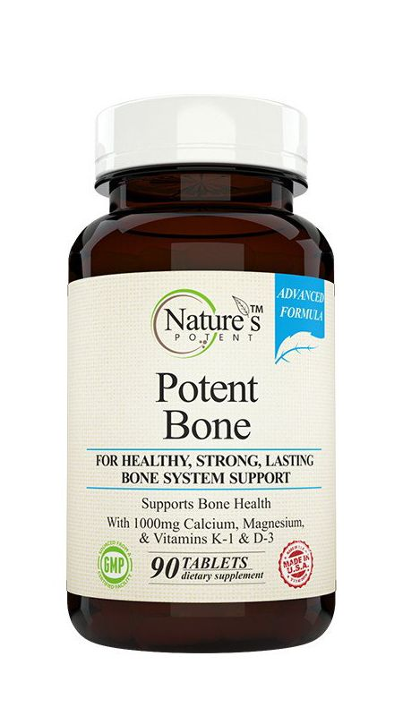 Product Description Potent Bone by Nature's Potent is a bone strength supplement that really works. It contains a wide range of essential minerals and vitamins that support the health of your skeletal