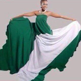 Nigerian Flag Dress