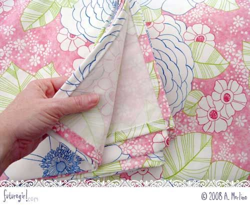 easy way to stitch a nice even hem without measuring and ironing--MADE MY NIGHT!