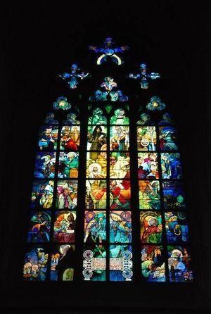 プラハ・聖ヴィート大聖堂 「ステンドグラス」