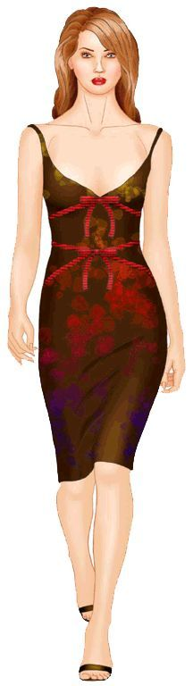 preview - #5531 Dress with decorative ties
