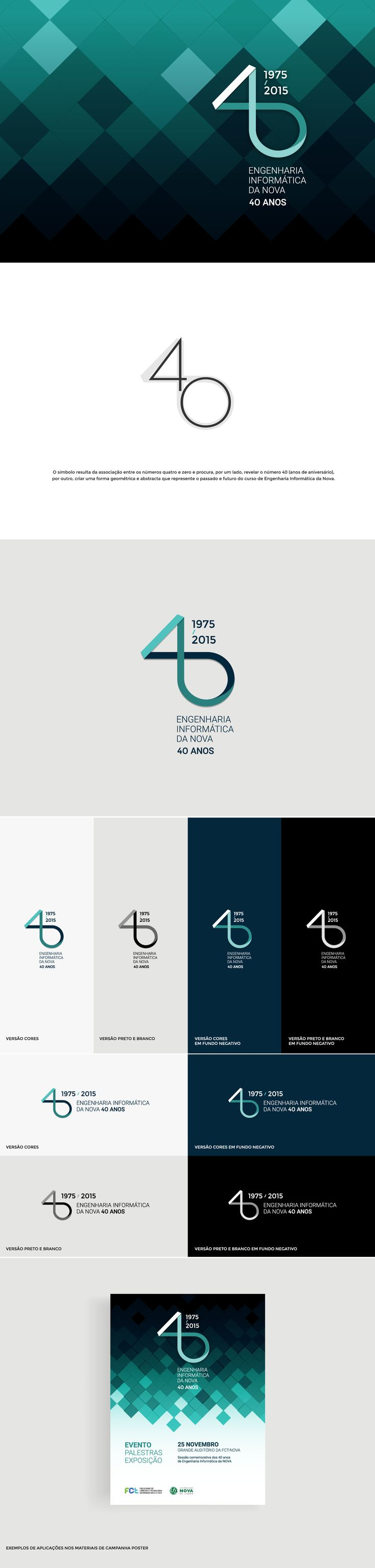 Computer Science at Nova, 40th Anniversary Logo on Behance