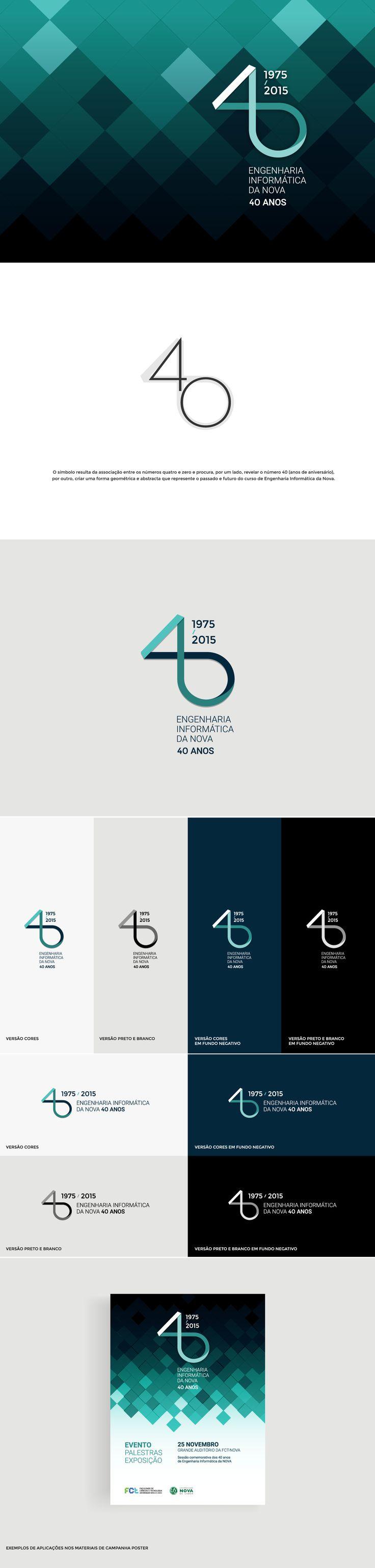 Computer Science at Nova, 40th Anniversary Logo on Behance http://jrstudioweb.com/diseno-grafico/diseno-de-logotipos/