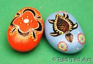 Red Ted Art's Blog » Blog Archive Kids Craft: Indigenous Inspired Good Luck Stones » Red Ted Art's Blog