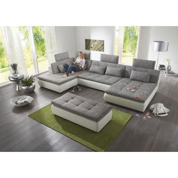 25+ parasta ideaa Pinterestissä Big Sofa Grau Wohnzimmer - wohnzimmer beige weis grau
