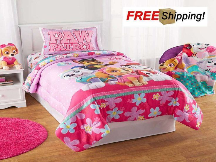 PAW Patrol Girl Bedding set Twin/Full Comforter Best Pup Skye Pals Everest gift | eBay