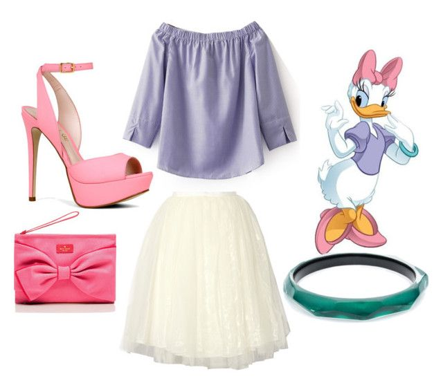 """""""Daisy Duck"""" by i-dont-want-to-go ❤ liked on Polyvore featuring WithChic, Alice + Olivia, ALDO, Alexis Bittar and Kate Spade"""