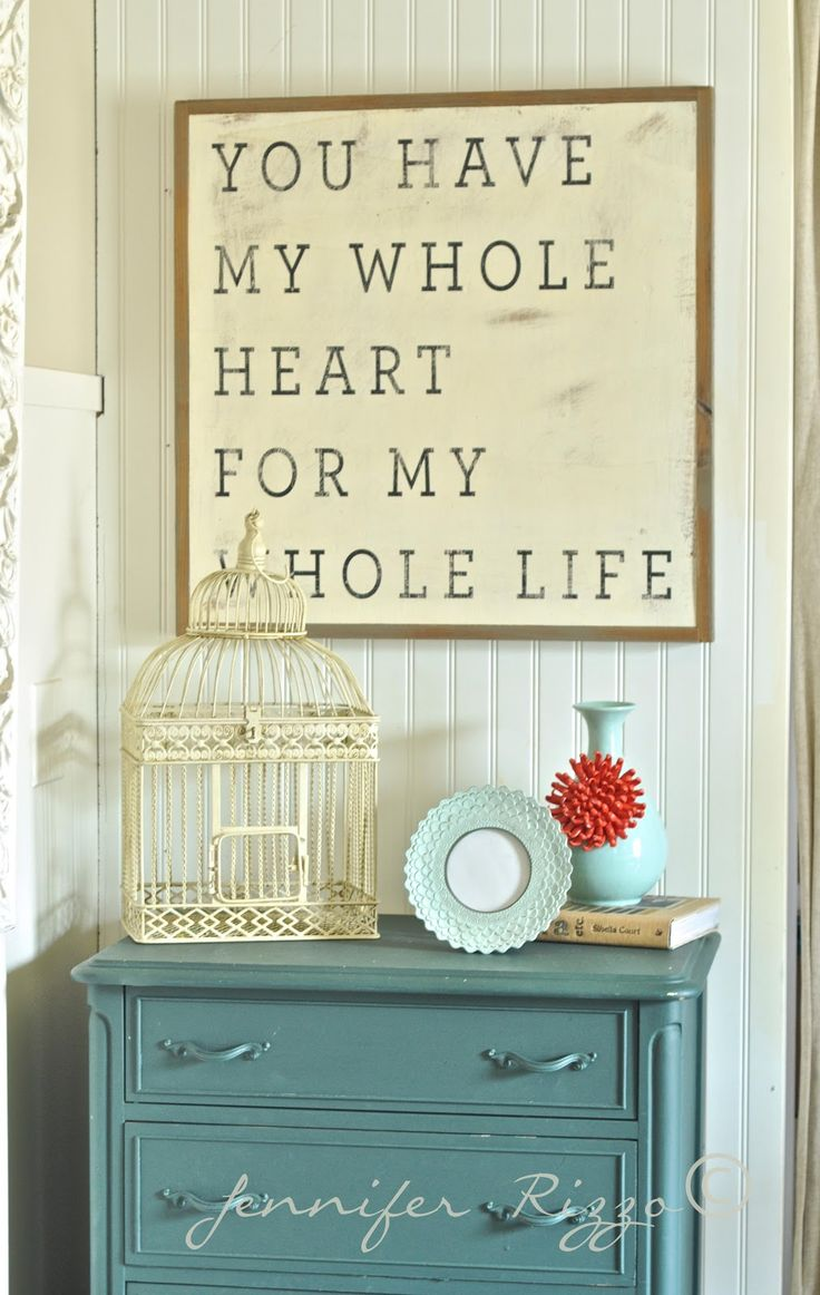 I've been brainstorming for the perfect phrase for master bedroom wall art. Found it!
