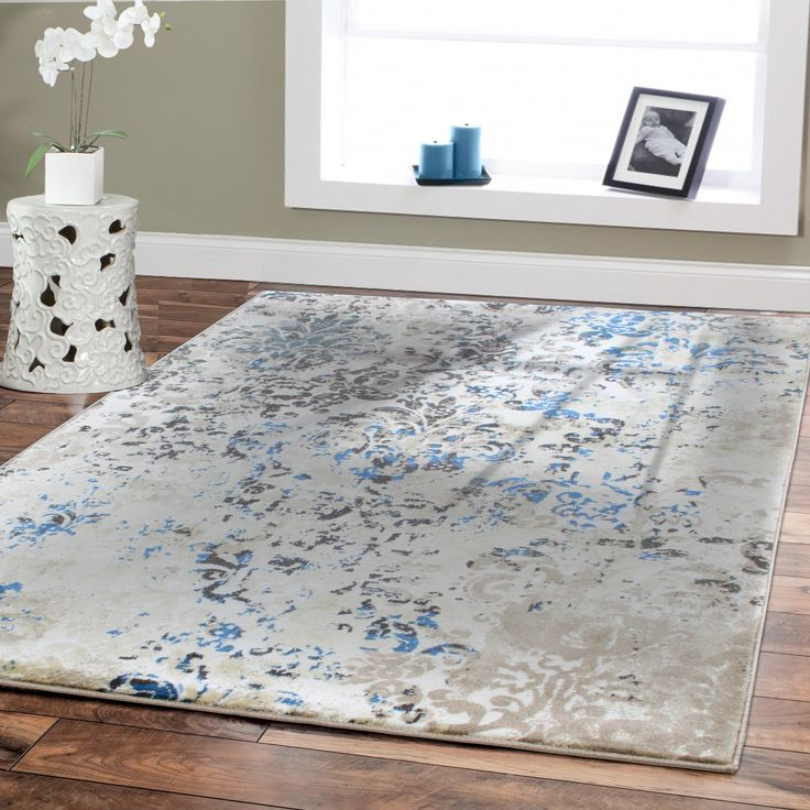 Premium Rug Large Rugs For Dining Rooms 8 By 11 Blue Beige Brown Cream 8x10  Area