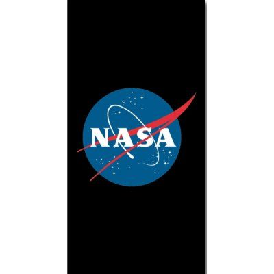 The Beach Collection Nasa Space Center Logo Final Fronter Beach Towel
