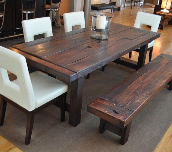 Love this table!  rustic dining room tables - Google Search