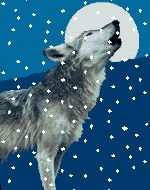 Animierte Tier Gifs: Wölfe - Gif-Paradies