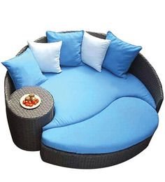 Circular Day Bed By Alcanes By Alcanes Online   Seating   Furniture    Pepperfry Product