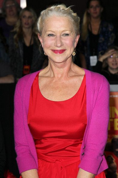 Helen Mirren Photo - love the hair color with the red and pink!! A girl always has to have pink<3