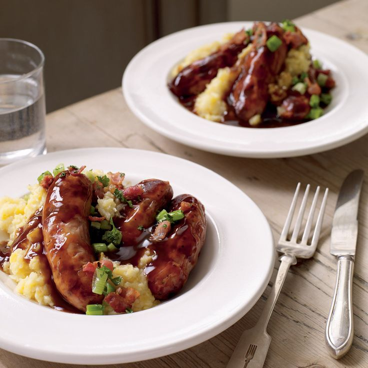 Need an easy meal for teatime? Follow this recipe and use our British pork & Bramley apple sausages for bangers and mash with a fruity twist! po.st/SausageRootVeg