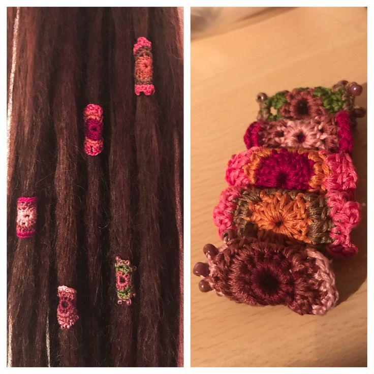 Handmade crocheted dreadlock beads