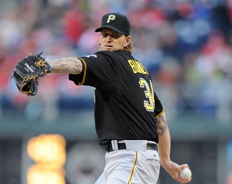 4-27-2013 - The good news?  The Bucs are 6-1 in the 2nd game of a series so far in 2013 - their only defeat - a 1-0 loss to the Dodgers.  Today, ace A.J. Burnett takes the hill for the Bucs while the Cards counter with  Jake Westbrook, who has struggled greatly against the Pirates this season and throughout his career.    While the right-hander will try for his 100th Major League win, Westbrook has just one career victory in nine starts against Pittsburgh, going 1-7 with a 5.28 ERA.