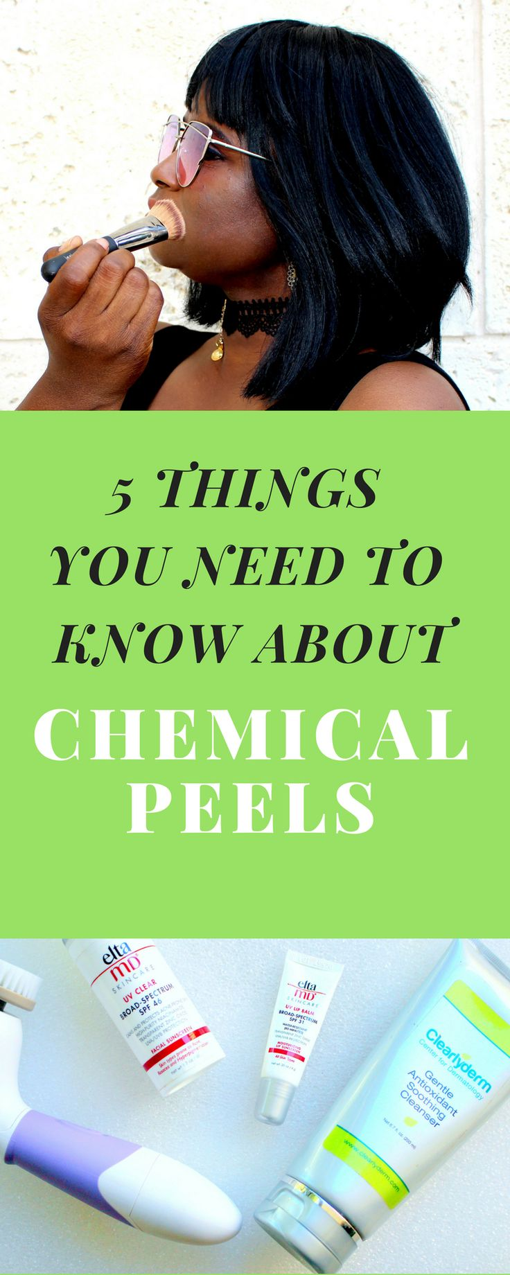 CHEMICAL PEELS - Although the chemical peels definitely WORK and you WILL be extremely pleased with the end result, there are 5 things that you should know before scheduling your first appointment! #beauty #beautyblogger #chemicalpeel #skincare #skin #beautyroutine