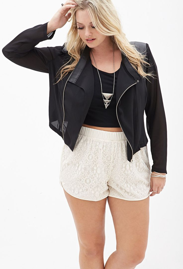 Beaded Lace Dolphin Shorts #SummerForever #F21Plus