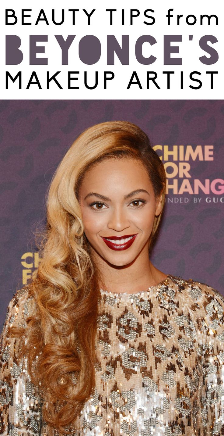 Beauty tips straight from Beyonce's makeup artist. #beyonce