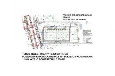 Działka na sprzedaż, Włocławek Zachód, 1 125 000 PLN, 15 000 m2, domy-712   Domy.pl