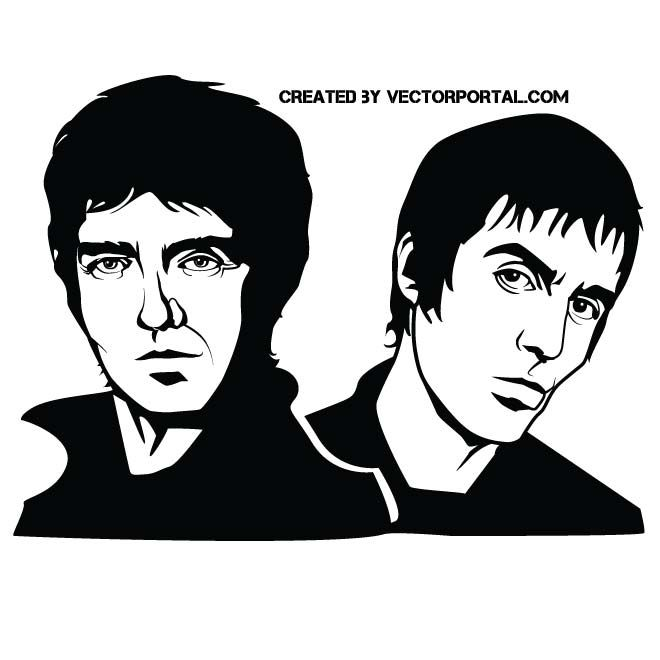 Oasis band vector image.