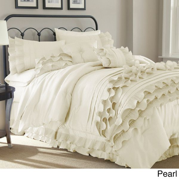 Harper Luxury 8 PC Ruffle Accent Comforter Set                                                                                                                                                                                 More