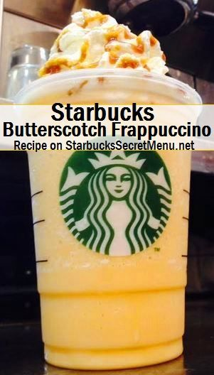 Mmm Starbucks Butterscotch Frappuccino! #StarbucksSecretMenu Recipe here: http://starbuckssecretmenu.net/starbucks-secret-menu-butterscotch-frappuccino/
