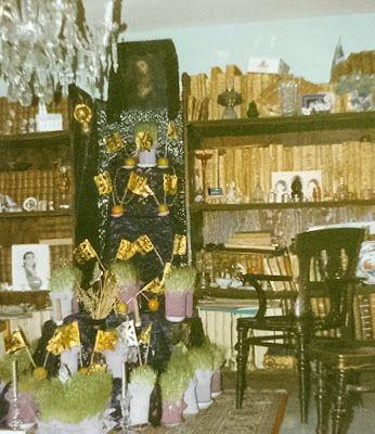 Altar de la Virgen de Dolores entre libros Marco Fabrizio Ramírez Padilla