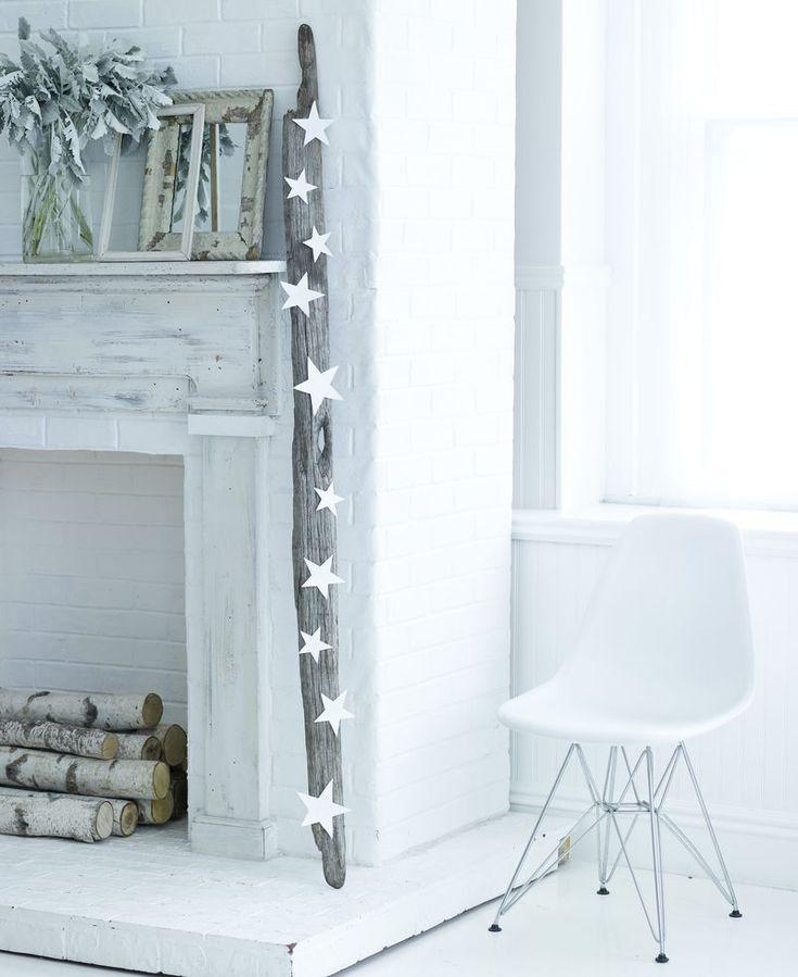 white wood stars