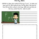 "A fabulous worksheet to go with the poem ""Jitter Juice"" and the book ""First Day Jitters!"""