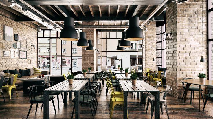 Industrialna restauracja | Wrocław | architektura i architektura wnętrz | troomono