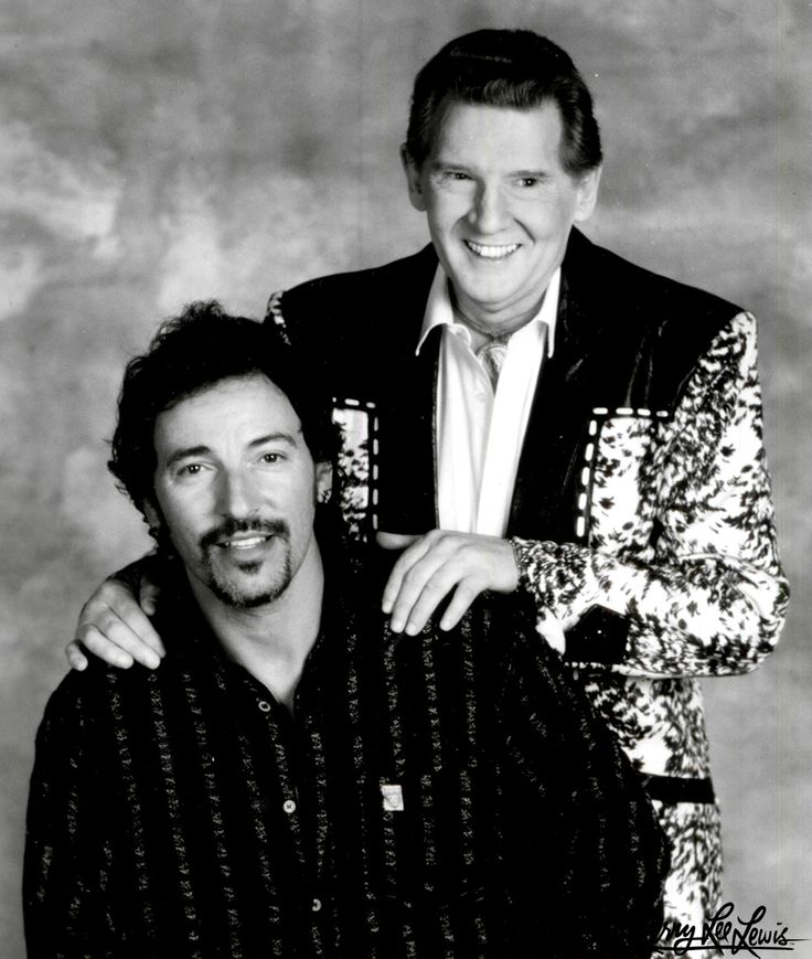 Jerry Lee Lewis Biography | Jerry Lee with Bruce Springsteen