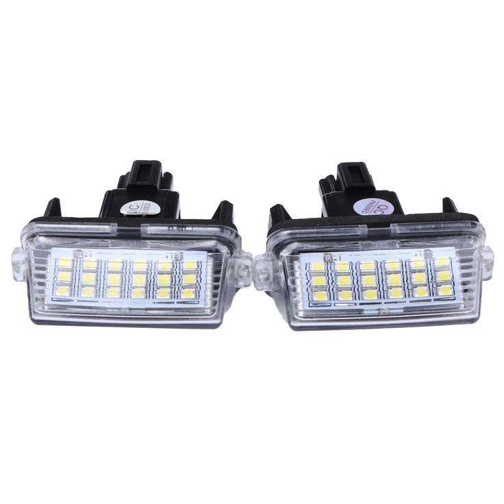 2pcs 12V 18LED 6000k LED License Number Plate Lights Lamp for Toyota/Camry/Yaris 2012 2013 External License Number Plate Lamp