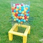 Make a Backyard Kerplunk Game