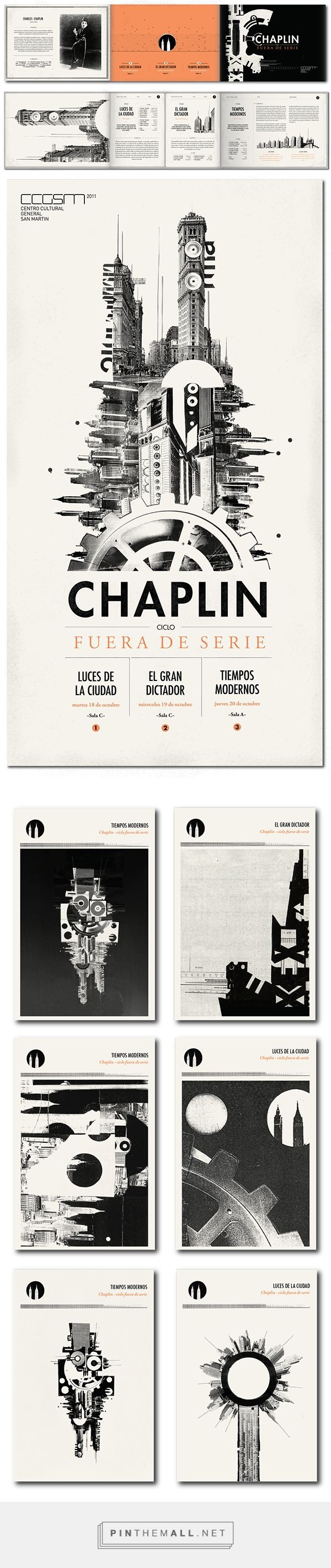 Chaplin - fuera de serie on Behance... - a grouped images picture - Pin Them All