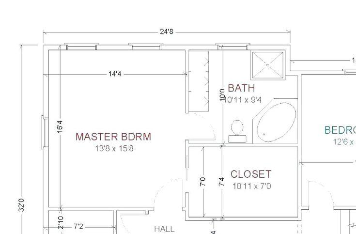 master bathroom layouts master bathroom and closet floor ...